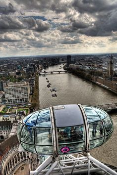 London Eye'ın tepesinden Londra..