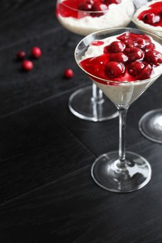 Risalamande - a Danish rice pudding with warm cherry compote (A Christmas dessert)