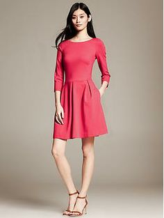 8b2740595d Ponte Fit-and-Flare Dress. At Banana Republic. Ladylike Style