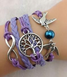 Armband Vintage Infinity Freundschaft Love Anker Perle SONDERPREIS ! | eBay