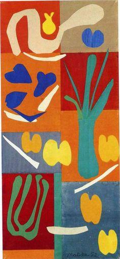 Henri Matisse - Vegetables  1952 - color/pattern/rhythm/motion/line?/emphasis/balance/