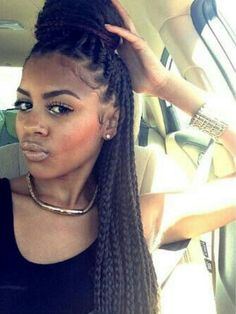 Braids With Bead Embellishments - 40 Best Big Box Braids Hairstyles Dookie Braids, Big Box Braids, Box Braids Styling, Long Braids, Brown Box Braids, Box Braids Updo, Medium Box Braids, Bun Updo, Box Braids Hairstyles
