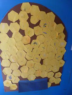 Bienenstock basteln im Kindergarten