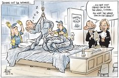 ABBOTT AND HIS NEW MINISTER FOR HEALTH Cartoon by DAVID POPE.