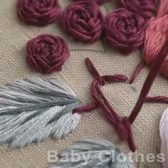 Hand Embroidery Patterns Flowers, Hand Embroidery Videos, Embroidery Flowers Pattern, Hand Embroidery Designs, Embroidery Kits, Beaded Embroidery, Crewel Embroidery, Diy Embroidery Shirt, Embroidery Stitches Tutorial