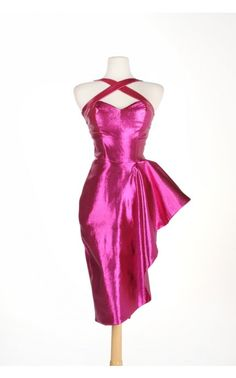 Deadly Dames- Voodoo Vixen Dress in Pink Lamé | Pinup Girl Clothing. Real life BARBIE. amazing.