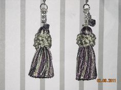 purple and silver tassle earrings by BeadingByJenn on Etsy, $8.50
