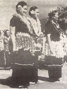 1948 during the United Nations Mission  The 3 Masiofo (Queens) of Samoa  Noue Tupua Tamasese Mea'ole ,Lili Tunu Malietoa Tanumafili II and Faamusami Mataafa Fiame Faumuina Mulinuu I.