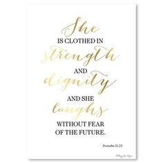 Penny Jane - Proverbs 31 25, Print, 30cm x 42cm