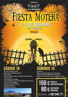 Fiesta Motera Los Infiernos Halloween 2017, en Loja, Granada