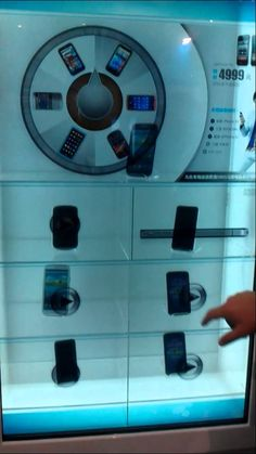 Transparent interactive display for mobile phone by Get A Glance