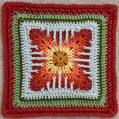 "Ravelry: Cat's Claw Afghan 12"" or 10"" block pattern by Margaret MacInnis"