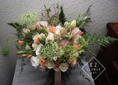 Ramo romántico con tonos suaves, amorcito dulce. #ezflowerart #weddingflowers #wedding #bouquet #love #rose #mexicanflorist #florist #flowerdesign