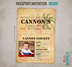 Custom Jungle Safari Passport Birthday by KelliNichollsDesigns