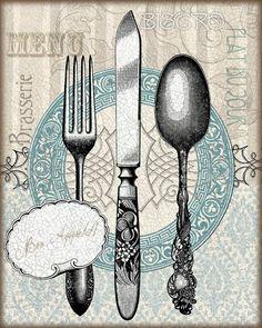 View album on Yandex. Vintage Cutlery, Vintage Labels, Vintage Cards, Vintage Posters, Retro Vintage, Decoupage Vintage, Decoupage Paper, Vintage Pictures, Vintage Images