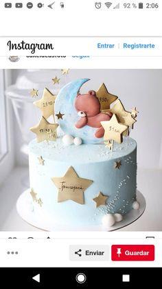 Especially beautiful cream cake, so beautiful! Especially beautiful cream cake, so beautiful! Especially beautiful cream cake, so beautiful! Baby Girl Cakes, Baby Shower Cakes For Boys, Cake Baby, Baby First Birthday Cake, Birthday Cake Girls, Fondant Baby Torte, Rodjendanske Torte, Diva Cakes, Gateau Baby Shower