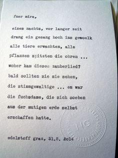 Sag mir ein Wort und ich schreib dir ein Gedicht. Wortfachgeschaeft @ Designmesse Edelstoff in Graz. Inspirationswort: Fuchs