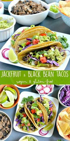 Mix up your taco game with Jackfruit & Black Bean Taco Filling! It's vegan, gluten-free, and delicious!