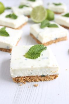 Try these creamy, refreshing mojito cheesecake bars packed full of fresh limes, mint and rum - just like your favourite cocktail.