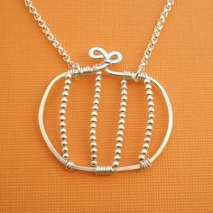 Pumpkin Necklace - All Sterling Silver
