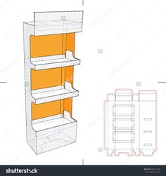 Display Stand Shelf With Blueprint Layout Stock Vector Illustration 381152920 : Shutterstock