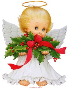 ✿⊱❥ Angel navidad By; Maria Elena Lopez IN the Bleak Midwinter Christmas Angels, Christmas Art, Christmas And New Year, All Things Christmas, Vintage Christmas, Christmas Decorations, Christmas Ornaments, Christmas Flowers, Christmas Clipart