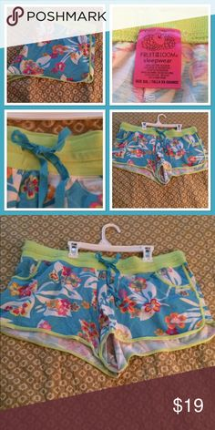 Tropical print lounge shorts plus  size Super cute  can wear as bathing suit cover up bottoms, but these are great for summer . I worn them for sleep on hot nights . Very comfortable  , tie waist  , high cut . Item comes from smoke free home . Intimates & Sleepwear Pajamas