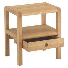 RADIUS Oak 1 drawer bedside table