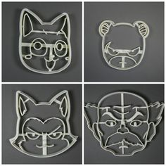 Fairy Tail Cookie Cutter Set: Happy Pantherlily by Geek2Geek