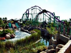 Some of the rides at Gold Reef City, Johannesburg, South Africa.
