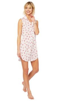 24d96864 The Cat's Pajamas Mister Lobster Luxe Pima Sleeveless Night Shirt