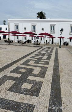 """The famous Portuguese cobblestone pavement (""""calcadas"""") in the """"Pousada de Cascais"""", one of the leading hotels of the world ~ photo by Sabine Ostermann www.pure-image.eu"""
