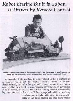 1936 - Robot Remote Controlled Train - Jiro Aizawa (Japanese) - cyberneticzoo.com