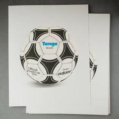 Classic 1978 World Cup adidas Tango football screenprint Table Football, Football Kits, Tango, Argentina World Cup, Soccer Ball, Screen Printing, I Shop, Adidas, Retro