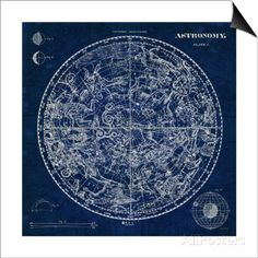Celestial Blueprint Posters by Sue Schlabach at AllPosters.com