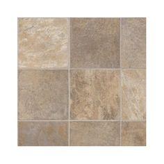 Linoleum floor : Alamo Stone - Taupe/Beige.