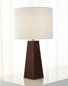H7Y17 Stitched Leather Lamp