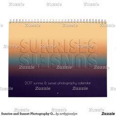 Sunrise and Sunset Photography Ontario Canada Calendar
