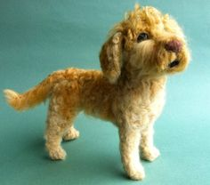 Needle Felted Fiber Sculpture of Your by DogArtPortraits on Etsy
