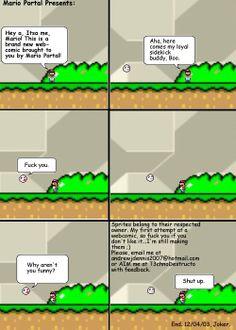 Mario Portal Presents comic. by Joker Mario Comics, Super Mario, Portal, Joker, Presents, Comics, Gifts, The Joker, Favors