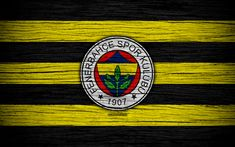 Download wallpapers Fenerbahce, 4k, Turkey, wooden texture, Super Lig, soccer, football club, FC Fenerbahce, art, football, FenerbahceFC