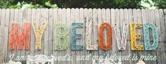 Oh, these string letters would be cool with babies name over the crib. like the state outlines with nails and string!