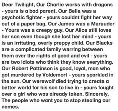 Harry Potter vs Twilight: Could not have been better.. well, except for Stephen Kings quote..