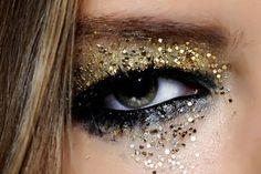 dramatic glitter eye makeup - Google Search
