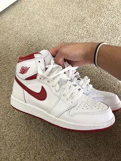 micheal jordan aesthetic Cute trendy aesthetic ( air force )Jordan ones in red Zapatillas Nike Jordan, Sneakers Fashion, Fashion Shoes, Nike Air Shoes, Air Jordan Sneakers, Air Force Sneakers, Jordans Sneakers, Nike Air Force, Jordan Shoes Girls