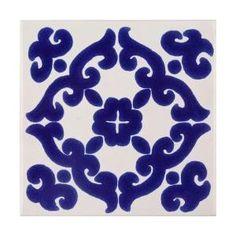 Mexican Tile - Blue Kiosco Terra Nova Mediterraneo Ceramic Tile ...