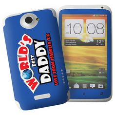 Personalised Worlds Best HTC One X Phone Skin  from Personalised Gifts Shop - ONLY £7.95
