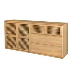 Buffet 2 portes et 3 tiroirs en chêne Chêne Naturel - Aronde - Les livings - Etagères et livings à composer - Tout pour le rangement - Décoration d'intérieur - Alinéa