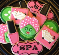 Day at the Spa Sugar Cookie Collection di NotBettyCookies su Etsy