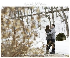 Winter engagement photos Ottawa Ontario Canada Wedding photographers Studio G.R. Martin - Ottawa winter engagement and wedding photographers